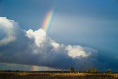 Ουράνιο τόξο στον ουρανό Στοκ εικόνα με δικαίωμα ελεύθερης χρήσης