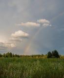 Ουράνιο τόξο στο δασικό λιβάδι Στοκ Φωτογραφία