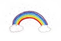 Ουράνιο τόξο σχεδίων παιδιών Στοκ Εικόνα