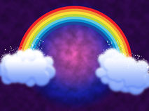 ουράνιο τόξο σύννεφων Στοκ Εικόνα