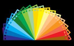 ουράνιο τόξο ταινιών χρώματ&omic Στοκ Φωτογραφία