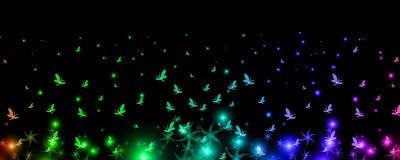 Ουράνιο τόξο των πεταλούδων Στοκ εικόνες με δικαίωμα ελεύθερης χρήσης
