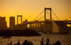 ουράνιο τόξο Τόκιο γεφυρώ& Στοκ Εικόνα