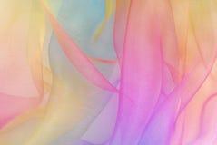 Ουράνιο τόξο υφάσματος Organza Στοκ φωτογραφία με δικαίωμα ελεύθερης χρήσης