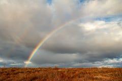Ουράνιο τόξο φθινοπώρου tundra, Dudinka στοκ φωτογραφία με δικαίωμα ελεύθερης χρήσης