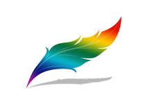 ουράνιο τόξο φτερών ελεύθερη απεικόνιση δικαιώματος