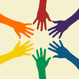 ουράνιο τόξο χεριών στοκ εικόνα με δικαίωμα ελεύθερης χρήσης