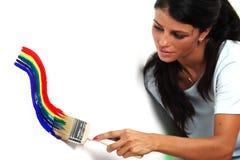 ουράνιο τόξο χρωμάτων Στοκ Εικόνες