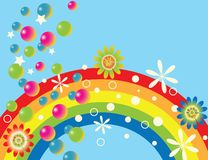 ουράνιο τόξο gala Στοκ φωτογραφία με δικαίωμα ελεύθερης χρήσης