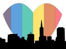 ουράνιο τόξο SAN καρδιών Francisco ελεύθερη απεικόνιση δικαιώματος