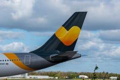 Ουρά αερογραμμών του Thomas Cook Στοκ εικόνες με δικαίωμα ελεύθερης χρήσης