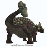Ουρά δεινοσαύρων Ankylosaurus με την πηγή Στοκ εικόνες με δικαίωμα ελεύθερης χρήσης