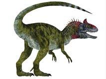 Ουρά δεινοσαύρων Cryolophosaurus διανυσματική απεικόνιση