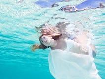 ουρά νεράιδων υποβρύχια Στοκ Φωτογραφίες