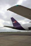 Ουρά του αεριωθούμενου αεροπλάνου της Fedex Στοκ Εικόνες