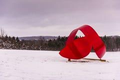 Ουρά IV φαλαινών - πέτρινο πάρκο τέχνης Hill λατομείων - Cazenovia, Νέα Υόρκη στοκ εικόνες