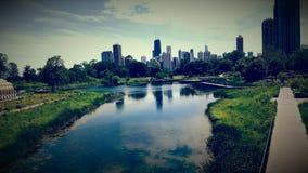 Ουρανοί του Σικάγου Στοκ Εικόνες