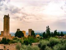 Ουρανοί SAN Gimignano στοκ φωτογραφία με δικαίωμα ελεύθερης χρήσης