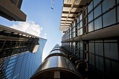 Ουρανοξύστες γραφείων στην πόλη του Λονδίνου στοκ εικόνα με δικαίωμα ελεύθερης χρήσης