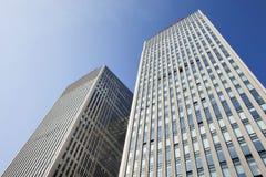 Ουρανοξύστες ενάντια σε έναν μπλε ουρανό στο κέντρο του Πεκίνου, Κίνα Στοκ φωτογραφία με δικαίωμα ελεύθερης χρήσης