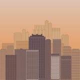 Ουρανοξύστες ενάντια στον ουρανό Στοκ φωτογραφία με δικαίωμα ελεύθερης χρήσης