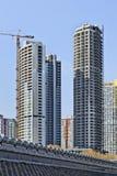 Ουρανοξύστες κάτω από την κατασκευή στο κέντρο πόλεων του Πεκίνου, Κίνα Στοκ φωτογραφία με δικαίωμα ελεύθερης χρήσης
