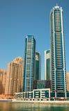 ουρανοξύστες μαρινών του Ντουμπάι Στοκ φωτογραφία με δικαίωμα ελεύθερης χρήσης