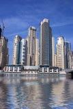 ουρανοξύστες μαρινών του Ντουμπάι Στοκ Φωτογραφία