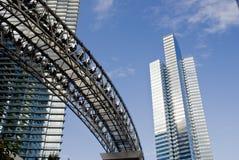 ουρανοξύστες μονοτρόχι&ome Στοκ Εικόνες