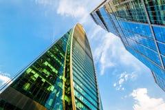 Ουρανοξύστες Μόσχα-πόλεων Στοκ Εικόνα