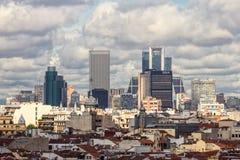Ουρανοξύστες οριζόντων της Μαδρίτης Στοκ φωτογραφίες με δικαίωμα ελεύθερης χρήσης