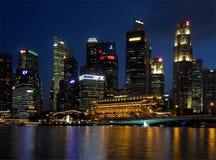 Ουρανοξύστες πάρκων Merlion στοκ εικόνες