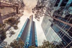 Ουρανοξύστες πόλεων της Μελβούρνης Στοκ Φωτογραφία
