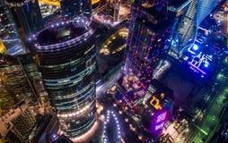 Ουρανοξύστες πόλεων της Μόσχας Στοκ Εικόνες