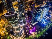 Ουρανοξύστες πόλεων της Μόσχας Στοκ Φωτογραφίες