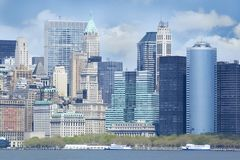 Ουρανοξύστες σε NYC, ΗΠΑ στοκ εικόνες