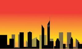ουρανοξύστες σκιαγραφ& Στοκ εικόνες με δικαίωμα ελεύθερης χρήσης