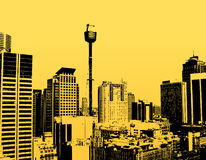 ουρανοξύστες σκιαγραφ& απεικόνιση αποθεμάτων