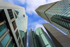 Ουρανοξύστες στην οικονομική περιοχή του νησιού Χονγκ Κονγκ, Κίνα στοκ φωτογραφία