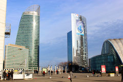 Ουρανοξύστες στην πόλη Στοκ Εικόνες