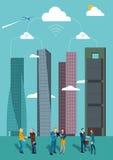 Ουρανοξύστες στη Μαδρίτη Στοκ εικόνα με δικαίωμα ελεύθερης χρήσης