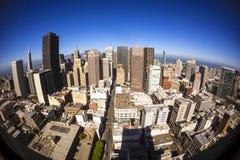 Ουρανοξύστες στο κέντρο της πόλης Σαν Φρανσίσκο Στοκ εικόνες με δικαίωμα ελεύθερης χρήσης
