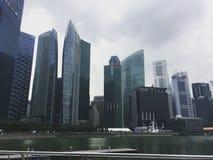 Ουρανοξύστες στο κέντρο της Σιγκαπούρης Στοκ Εικόνα