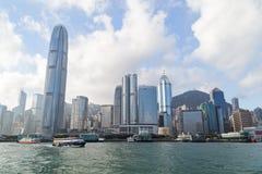 Ουρανοξύστες στο νησί Χονγκ Κονγκ Στοκ φωτογραφίες με δικαίωμα ελεύθερης χρήσης