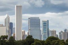 Ουρανοξύστες στο Σικάγο, Ιλλινόις, ΗΠΑ Στοκ εικόνες με δικαίωμα ελεύθερης χρήσης