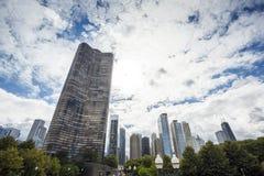 Ουρανοξύστες στο Σικάγο, Ιλλινόις, ΗΠΑ Στοκ εικόνα με δικαίωμα ελεύθερης χρήσης
