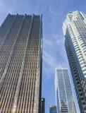 Ουρανοξύστες στο στο κέντρο της πόλης Τορόντο στοκ εικόνα