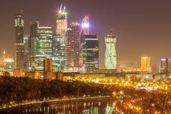 Ουρανοξύστες της Μόσχας, εικονική παράσταση πόλης Στοκ φωτογραφία με δικαίωμα ελεύθερης χρήσης