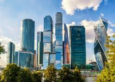 Ουρανοξύστες της Μόσχα-πόλης Στοκ Εικόνα