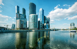 Ουρανοξύστες της Μόσχα-πόλης Στοκ φωτογραφία με δικαίωμα ελεύθερης χρήσης